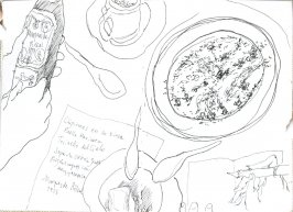 Untitled (Dining table), Illustration 4 in the book Journal (Puerto Rico)