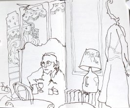 Untitled (Hotel lobby), Illustration 6 in the book Journal (Paris and Amsterdam)