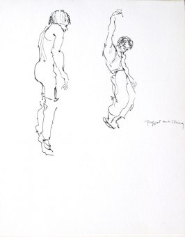 Untitled (Woman miming), Illustration 1 in the book Sketchbook (Conservatory of Mime)