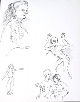 Untitled (Mime students), Illustration 4 in the book Sketchbook (Conservatory of Mime)