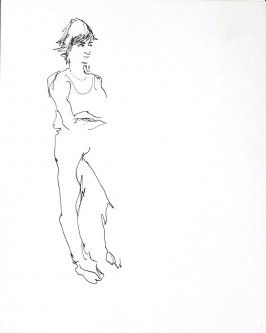 Untitled (Woman), Illustration 6 in the book Sketchbook (Conservatory of Mime)