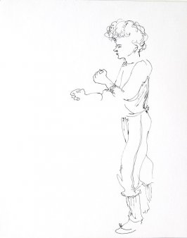 Untitled (Woman), Illustration 7 in the book Sketchbook (Conservatory of Mime)