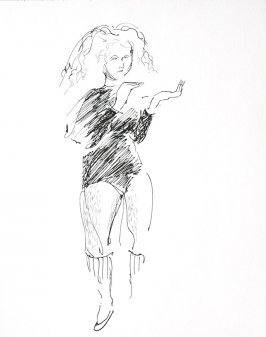 Untitled (Woman), Illustration 8 in the book Sketchbook (Conservatory of Mime)