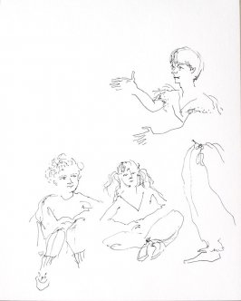 Untitled (Mime class), Illustration 10 in the book Sketchbook (Conservatory of Mime)