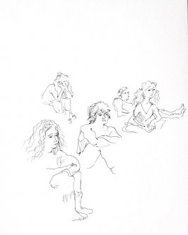 Untitled (Mime class), Illustration 12 in the book Sketchbook (Conservatory of Mime)