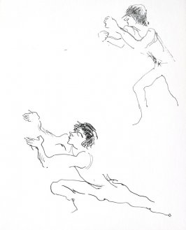 Untitled (Man miming), Illustration 13 in the book Sketchbook (Conservatory of Mime)