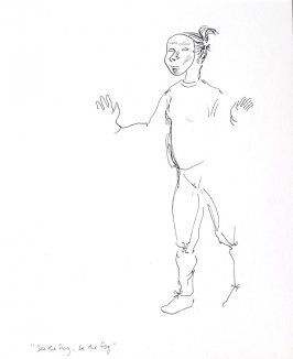 See The Fog, Be The Fog, Illustration 16 in the book Sketchbook (Conservatory of Mime)