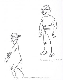 Untitled (Mime studies), Illustration 17 in the book Sketchbook (Conservatory of Mime)