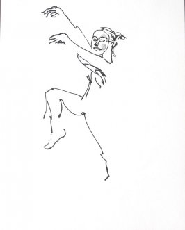 Untitled (Dancing mime), Illustration 19 in the book Sketchbook (Conservatory of Mime)