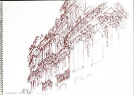 Les Roches Noires, Illustration 3 in the book Sketchbook (Trouville, III)