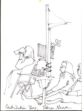 Contribution Box, Stern Grove, Illustration 5 in the book Sketchbook (Stern Grove)
