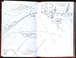 Untitled (Driving), Illustration 56 in the book Sketchbook (Honeymoon)