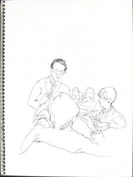 Doctors' Room, Illustration 27 in the book Sketchbook (Pacific Medical Center Clinic, I)
