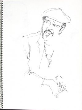 Untitled (Seated man), Illustration 28 in the book Sketchbook (Pacific Medical Center Clinic, I)