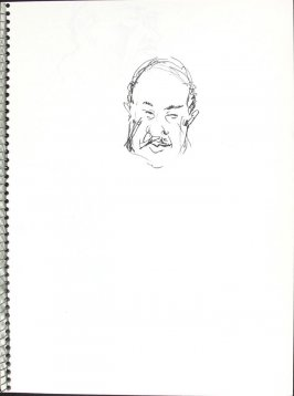 Untitled (Head), Illustration 30 in the book Sketchbook (Pacific Medical Center Clinic, I)