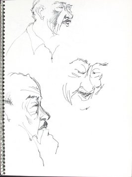 Untitled (Portrait Studies), Illustration 31 in the book Sketchbook (Pacific Medical Center Clinic, I)