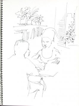 Patient Rep, Illustration 35 in the book Sketchbook (Pacific Medical Center Clinic, I)