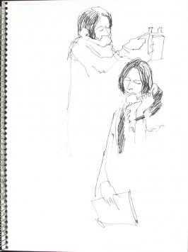 Doctor on the Phone, Illustration 38 in the book Sketchbook (Pacific Medical Center Clinic, I)