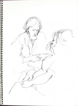 Untitled (Consultation), Illustration 39 in the book Sketchbook (Pacific Medical Center Clinic, I)