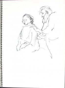Doctor and Patient, Illustration 40 in the book Sketchbook (Pacific Medical Center Clinic, I)