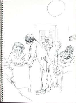Untitled (Doctor's Office), Illustration 41 in the book Sketchbook (Pacific Medical Center Clinic, I)