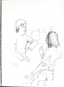 Doctor-Patient, Illustration 42 in the book Sketchbook (Pacific Medical Center Clinic, I)
