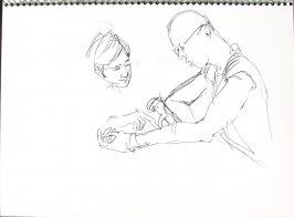 Untitled (Consultation), Illustration 45 in the book Sketchbook (Pacific Medical Center Clinic, I)