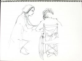 Untitled (Consultation), Illustration 46 in the book Sketchbook (Pacific Medical Center Clinic, I)