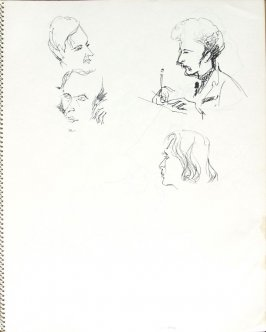 Doctors, Illustration 3 in the book Sketchbook (Pacific Medical Center Clinic, II)