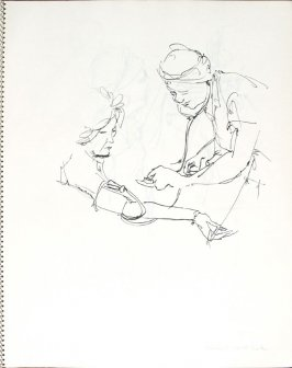 Women's Health Center, Illustration 8 in the book Sketchbook (Pacific Medical Center Clinic, II)