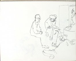 Waiting Room, Illustration 11 in the book Sketchbook (Pacific Medical Center Clinic, II)