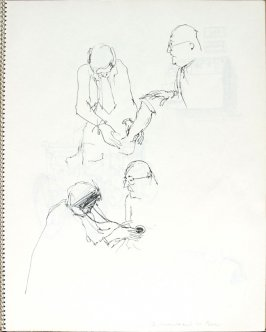 Dr. Straube and Mrs. Esmer, Illustration 18 in the book Sketchbook (Pacific Medical Center Clinic, II)