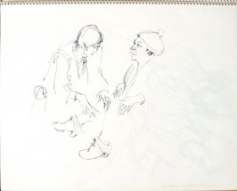 Dr. Straube and Mrs. Holman, Illustration 21 in the book Sketchbook (Pacific Medical Center Clinic, II)