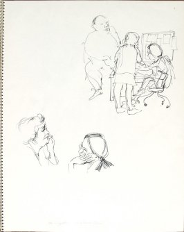 Mrs. Lippett and Carmen Rubin, Illustration 28 in the book Sketchbook (Pacific Medical Center Clinic, II)