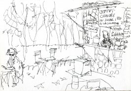 Untitled (Crepe Stand), Illustration 4 in the book Journal (Strasbourg and Venice)
