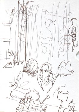 Untitled (Restaurant), Illustration 6 in the book Journal (Strasbourg and Venice)