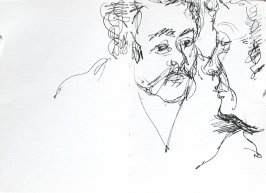 Untitled (Conversation), Illustration 9 in the book Journal (Strasbourg and Venice)