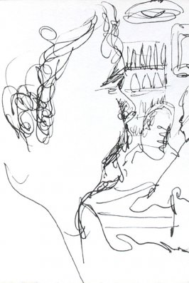 Untitled (Man in bar), Illustration 11 in the book Journal (Strasbourg and Venice)