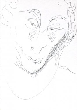Untitled (Head), Illustration 13 in the book Journal (Strasbourg and Venice)