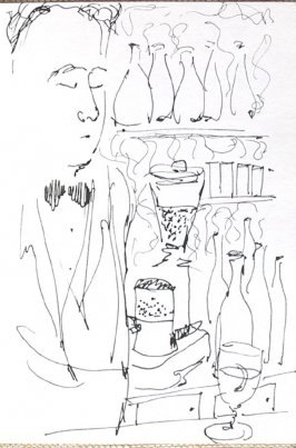 Untitled (Bartender), Illustration 15 in the book Journal (Strasbourg and Venice)
