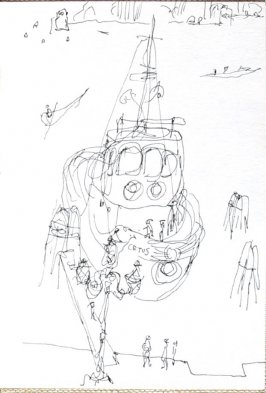 Untitled (Boat), Illustration 16 in the book Journal (Strasbourg and Venice)