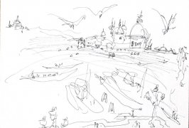 Untitled (Harbor), Illustration 17 in the book Journal (Strasbourg and Venice)