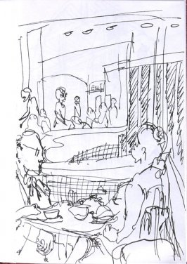 Untitled (Restaurant), Illustration 1 in the book Sketchbook (Sun Valley, Idaho)