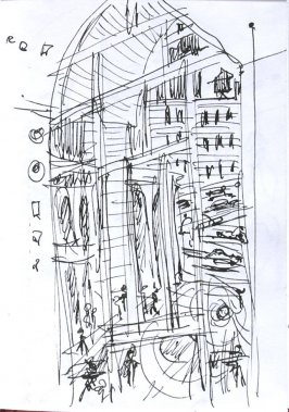 Untitled (Window), Illustration 2 in the book Sketchbook (Sun Valley, Idaho)