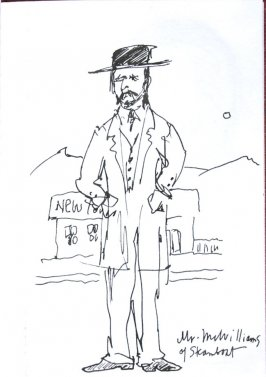 Mr. McWilliams of Steamboat, Illustration 23 in the book Sketchbook (Sun Valley, Idaho)