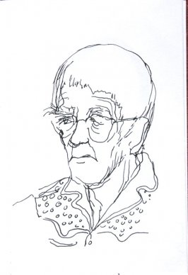 Untitled (Portrait), Illustration 28 in the book Sketchbook (Sun Valley, Idaho)