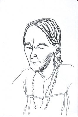 Untitled (Portrait), Illustration 30 in the book Sketchbook (Sun Valley, Idaho)
