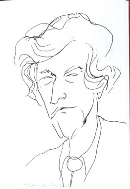 Frederick Manfred, Illustration 32 in the book Sketchbook (Sun Valley, Idaho)