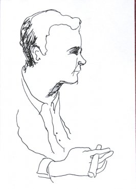 Untitled (Portrait), Illustration 36 in the book Sketchbook (Sun Valley, Idaho)