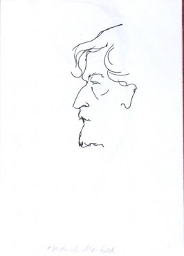 Frederick Manfred, Illustration 37 in the book Sketchbook (Sun Valley, Idaho)